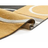 Galaxy Wave Gold/Grey Area Rug by Well Woven