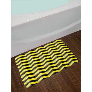 Black Yellow Chevron Bath Rug