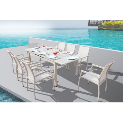 Brayden Studio Daucourt 9 Piece Dining Set