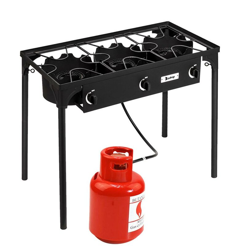 Propane Gas Single Heavy Duty Burner Triple Burner Angle Iron Camping Stove