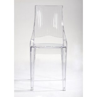 Brayden Studio Stabile Transparent Armless Dining Chair (Set of 4)