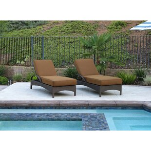Brayden Studio Inglestone Common 2 Piece Sun Lounger Set with Cushion