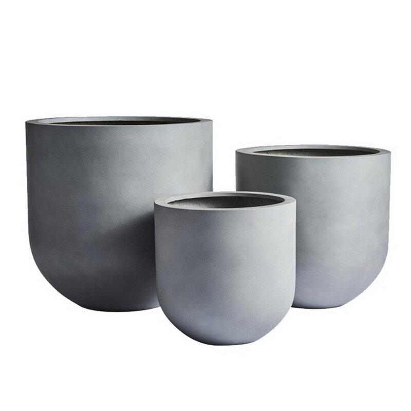 Orren Ellis Berntsen 1 Piece Stone Pot Planter Reviews Wayfair