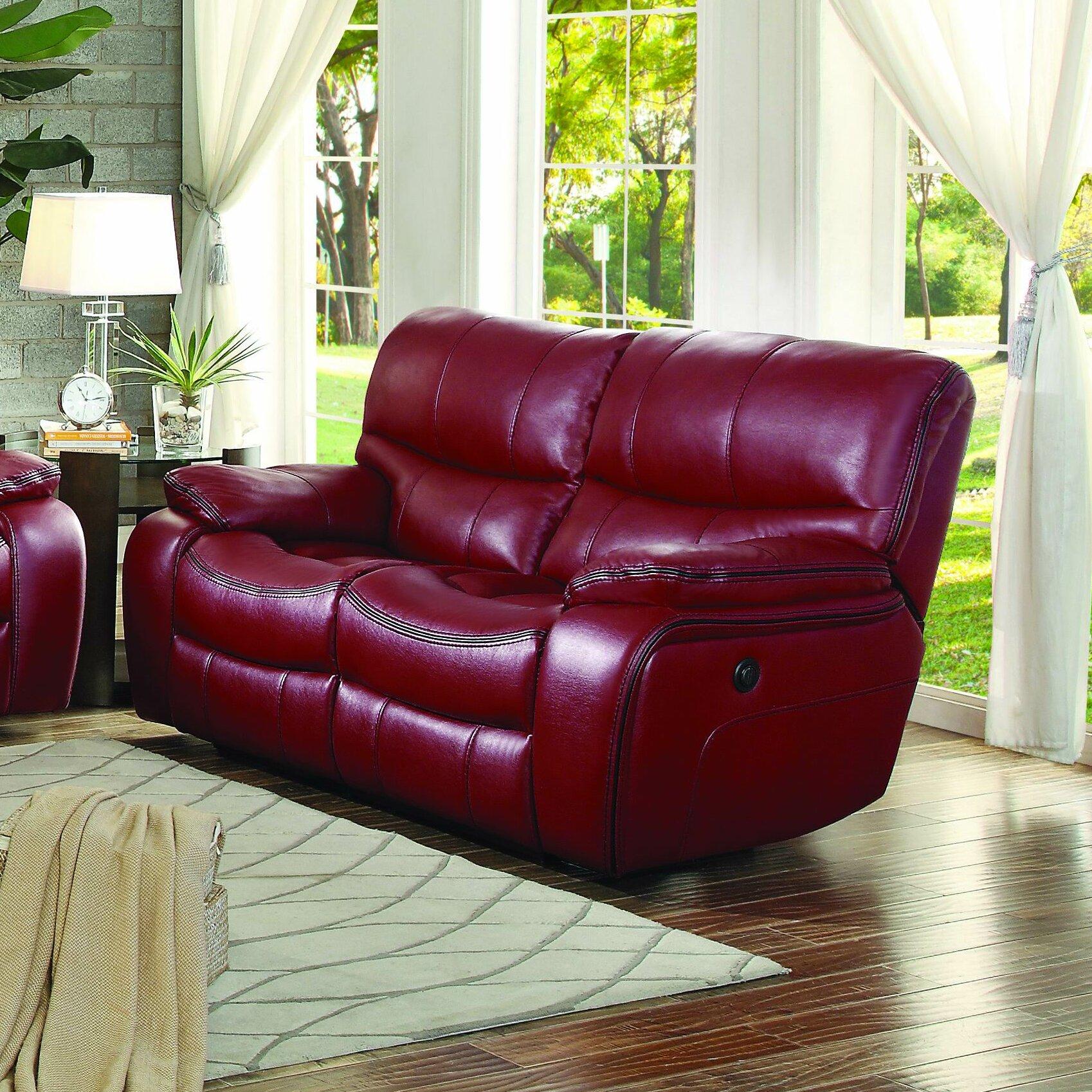 Red Barrel Studio Alejoa 65 Wide Faux Leather Pillow Top Arm Reclining Loveseat Reviews Wayfair