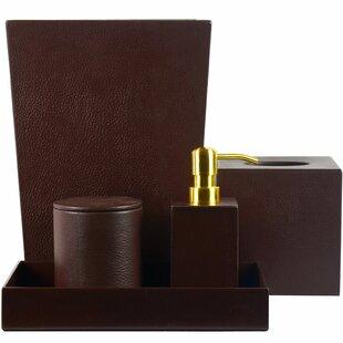 Bettine Genuine Leather 5 Piece Bathroom Accessory Set ByTrent Austin Design