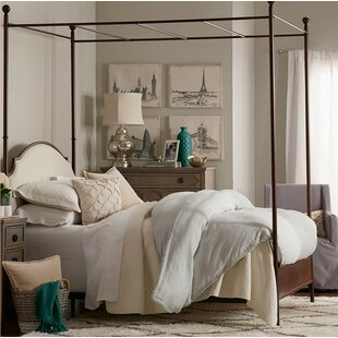 Three Posts Rockledge Upholstered Canopy Bed