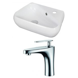 Great choice Specialty Ceramic Specialty Vessel Bathroom Sink with Faucet and Overflow ByAmerican Imaginations