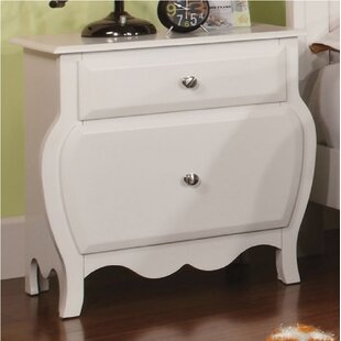 Morecambe Kid 2 Drawer Nightstand by Harriet Bee