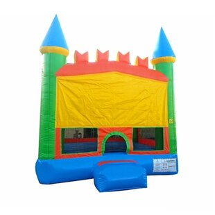 JumpOrange Pastel Bricks Castle Titan Bounce House