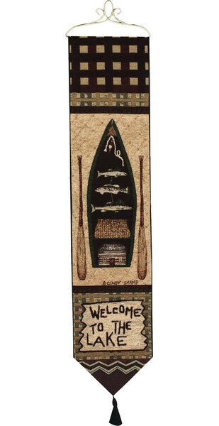 WALL ART WALL DECOR BELL PULL ADVICE FROM A WOLF WALL HANGING