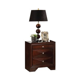 Orren Ellis Keller 2 Drawer Nightstand