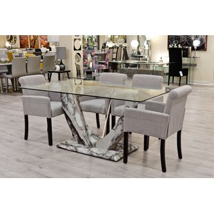 Fregoso Dining Set With 4 Chairs By Rosalind Wheeler