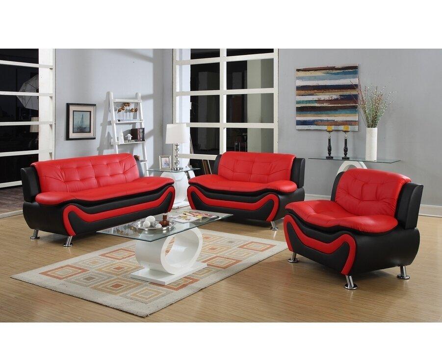 Roselia 3 Piece Living Room Set