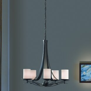 Hubbardton Forge Berceau 5-Light Shaded Chandelier