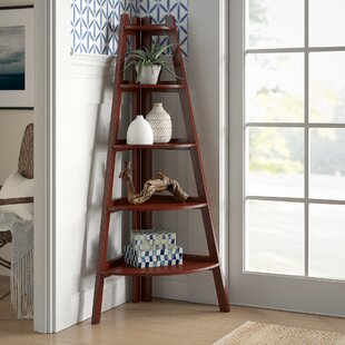 Pierview Corner Bookcase by Beachcrest Home 2019 Sale