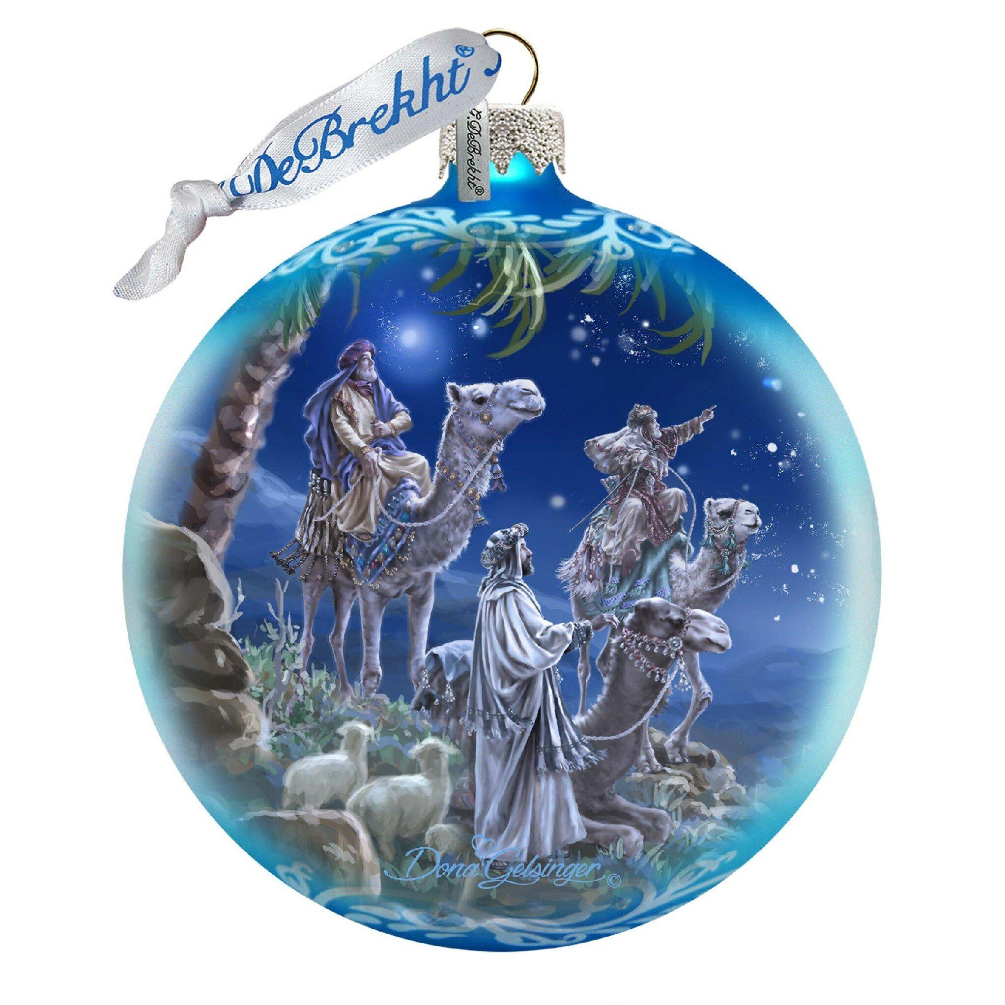 G Debrekht Bo Let Us Adore Him Ball Ornament Wayfair