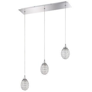 Crys 3-Light Pendant by Kendal Lighting