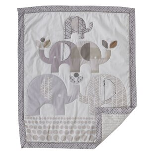 Best Reviews Elephants Baby Quilt By Lolli Living