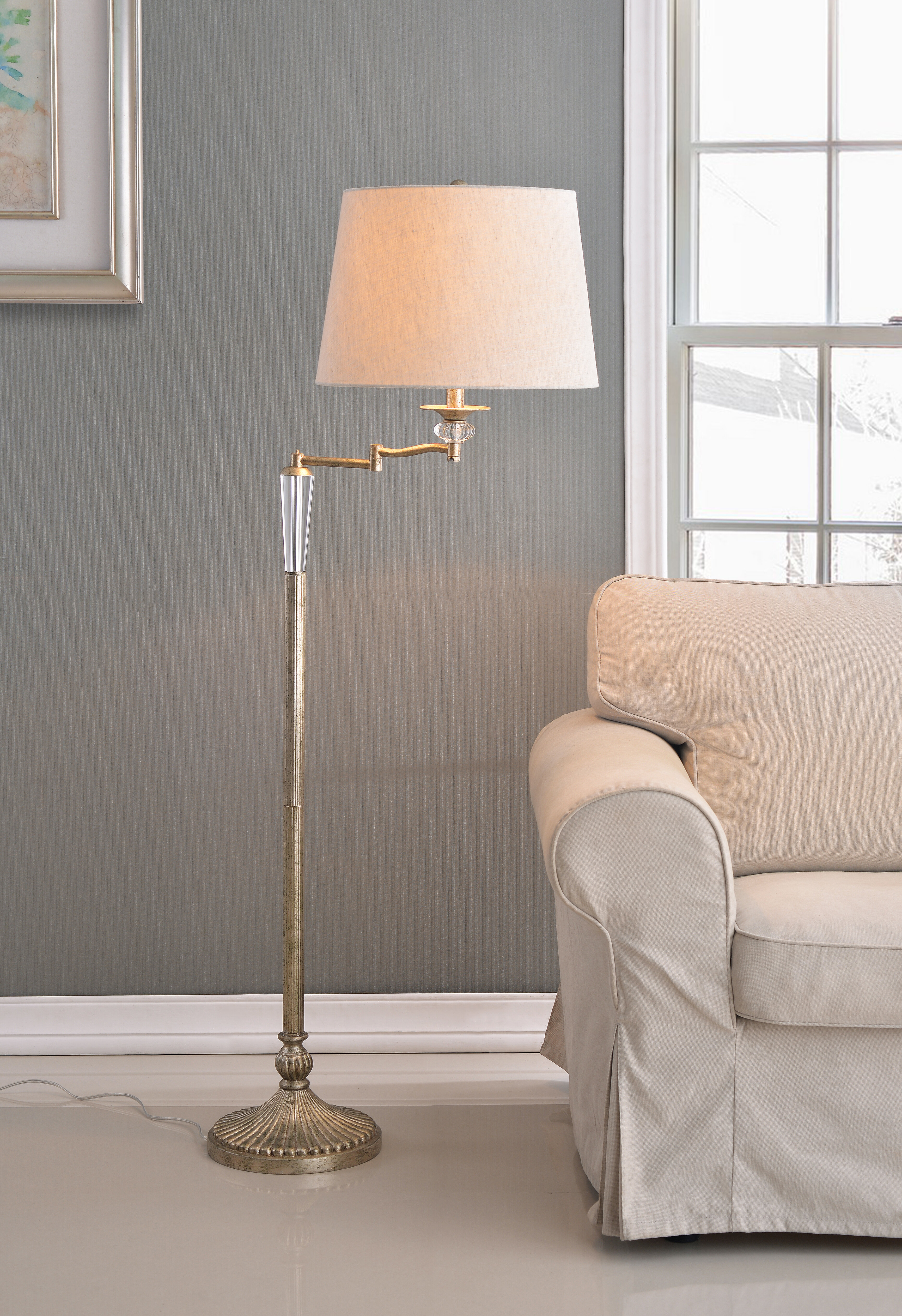 Pleasant Charlton Home Brampt 57 5 Swing Arm Floor Lamp Wayfair Theyellowbook Wood Chair Design Ideas Theyellowbookinfo