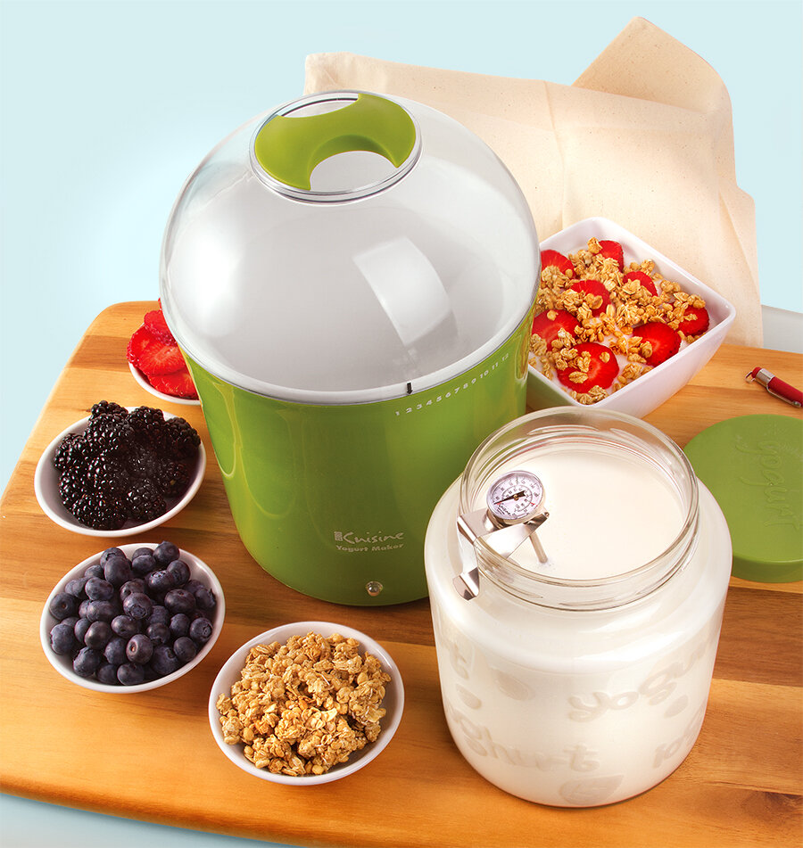 Euro Cuisine 2 Qt Yogurt And Greek Yogurt Maker With Glass Jar