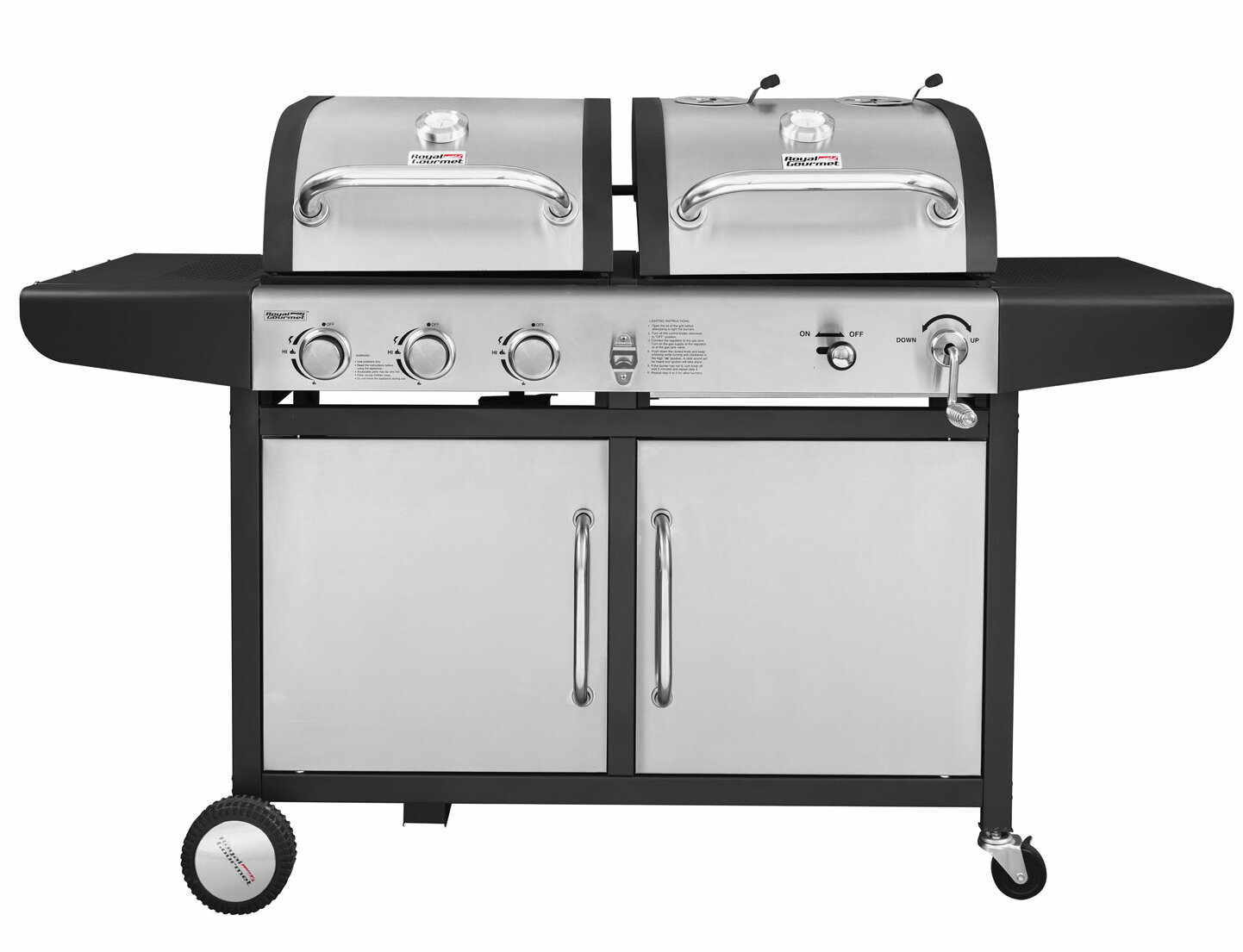 Performance 3 Burner Liquid Propane Gas And Charcoal Grill Reviews Joss Main