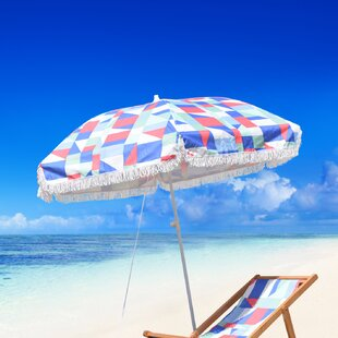 Brayden Studio Reeve Fiberglass Portable 6.5' Beach Umbrella
