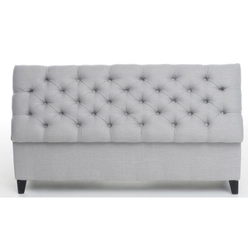 clare benches storage design and de farmhouse upholstered white product padded distressed home bench accent