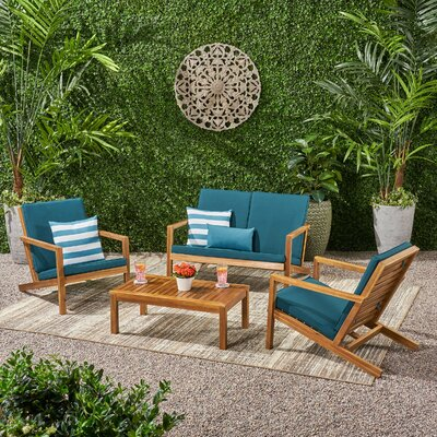 Wood Patio Conversation Sets You Ll Love In 2020 Wayfair