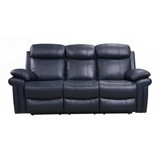 Savings Asbury Leather Reclining Sofa by Red Barrel Studio Reviews (2019) & Buyer's Guide