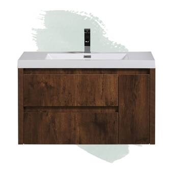 Orren Ellis Marguez 42 Single Bathroom Vanity Set With Rectangular Mirror Wayfair