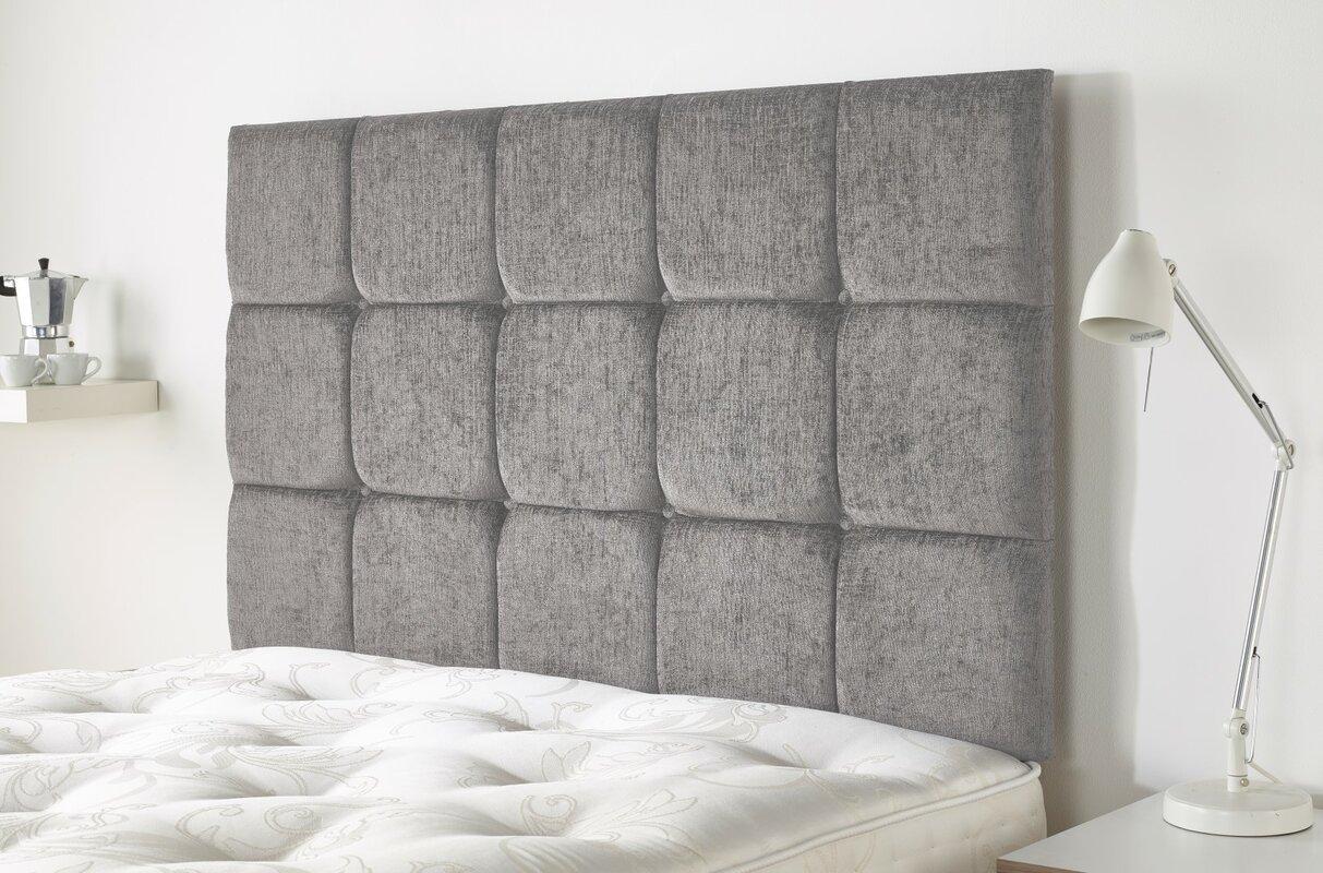 headboard heal fabric brunel single grey smoke bed s