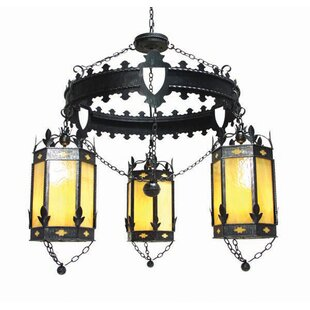 2nd Ave Design Valhalla 3-Light Shaded Chandelier