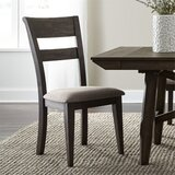 Luker Ladder Back Side Chair in Black (Set of 2) by Canora Grey