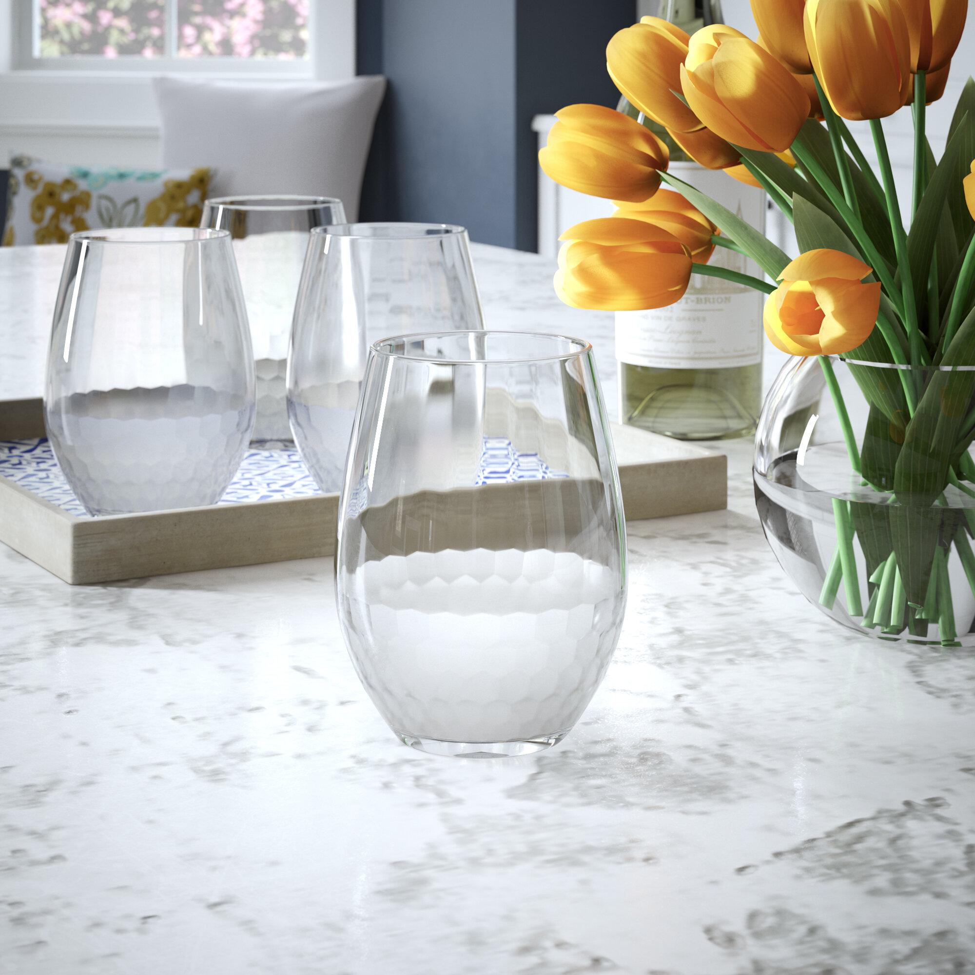 Mercer41 Lopez 17 Oz Stemless Wine Glass Reviews Wayfair
