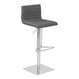 Harrell Adjustable Height Swivel Bar Stool by Orren Ellis