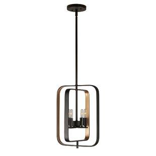 George Oliver Olivia 4-Light Square/Rectangle Pendant