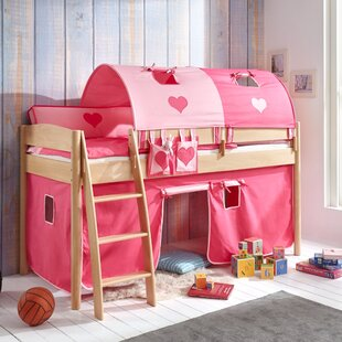 Wallart European Single Mid Sleeper Bed With Tunnel And Curtain By Zoomie Kids
