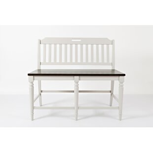 Hickerson Wood Bench (Set of 2) by Alcott Hill