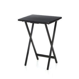Fabulous Ledbury Folding Tv Tray Table With Stand Set Of 4 Short Links Chair Design For Home Short Linksinfo