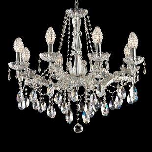 House of Hampton Dewitt 8-Light Crystal Chandelier