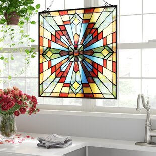 Square Shaped Stained Gl Panels You Ll Love In 2019 Wayfair
