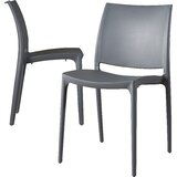 Goguen Stacking Patio Dining Side Chair (Set of 2)