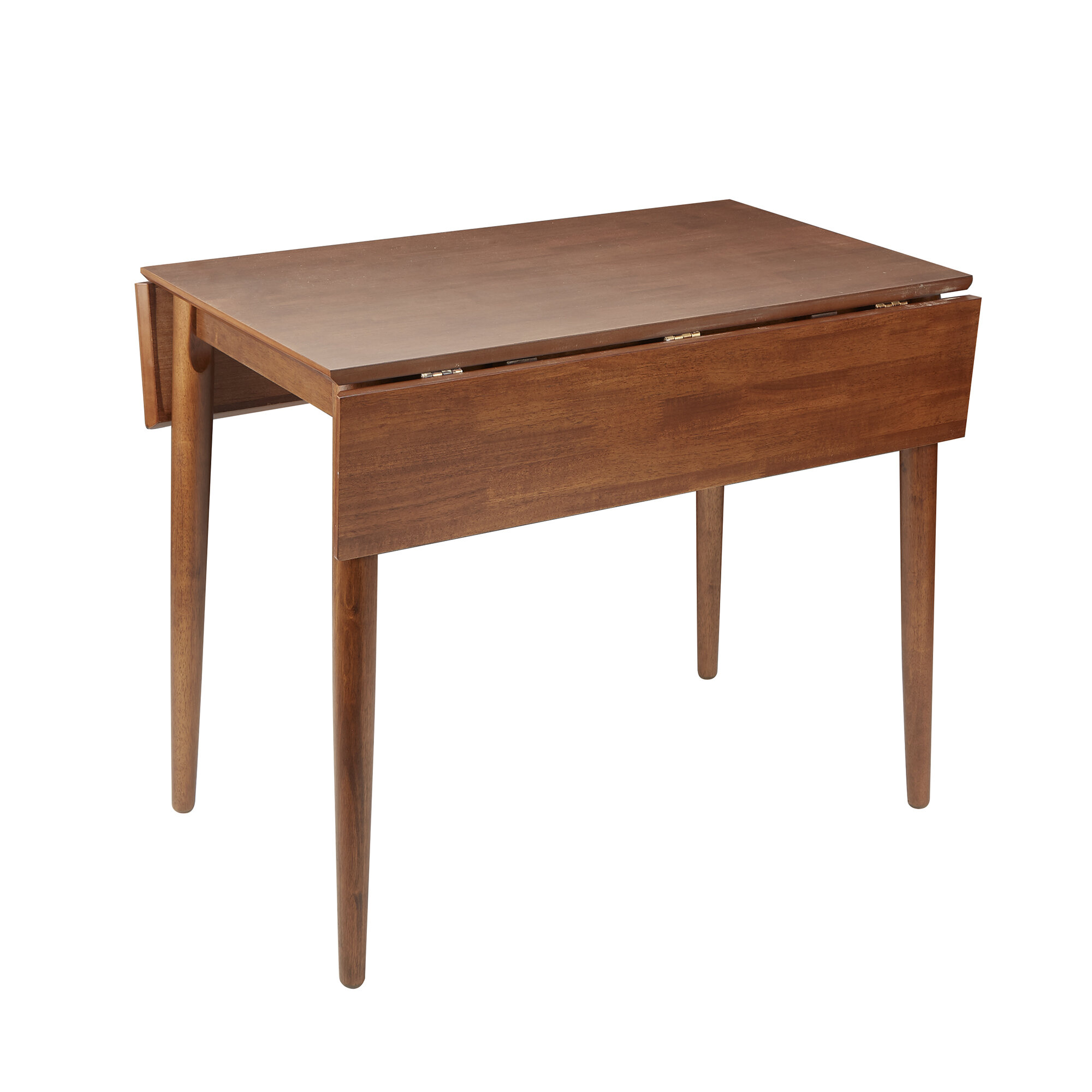 Ebern Designs Alidade Mid Century Modern Drop Leaf Dining Table