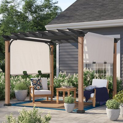 Raheem 10 W X 10 D Metal Pergola With Canopy by Sol 72 Outdoor New Design