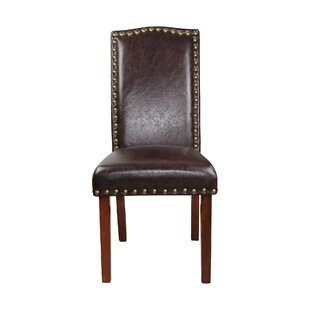 Castilian Leather Upholstered Dining Chair (Set of 2)