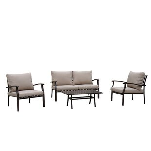 Nerstrand Outdoor 4 Piece Sofa Seating Group with Cushions