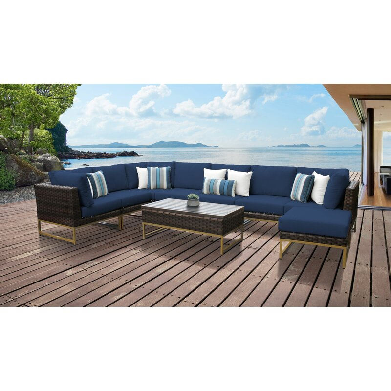 Nauvoo 4 Piece Rattan Sectional Seating Group With Cushions Joss Main