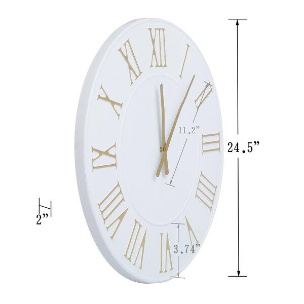"Oversized Nawal 24"" Wall Clock"