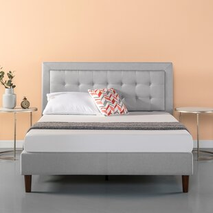 Wrought Studio Atkin Button Tufted Upholstered Platform Bed