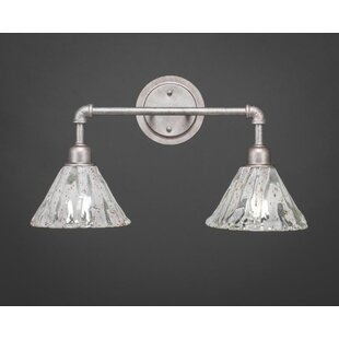 Kash 2-Light Cone Vanity Light by Williston Forge